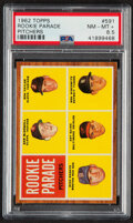 """Baseball Cards:Singles (1960-1969), 1962 Topps Rookie Parade """"Pitchers"""" #591 PSA NM-MT+ 8.5...."""