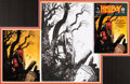 Original Comic Art:Covers, Mike Mignola Hellboy: The Corpse and the Iron Shoes #nn Cover Original Art and Color Art (Dark Horse, 1996)....