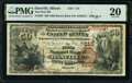 National Bank Notes:Illinois, Danville, IL - $50 1882 Brown Back Fr. 507 The First National Bank Ch. # 113 PMG Very Fine 20.