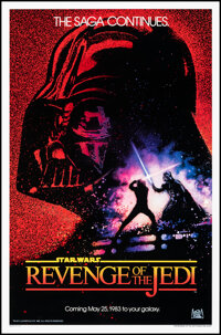 """Revenge of the Jedi (20th Century Fox, 1982). Rolled, Very Fine/Near Mint. One Sheet (27"""" X 41"""") Advance Dated..."""