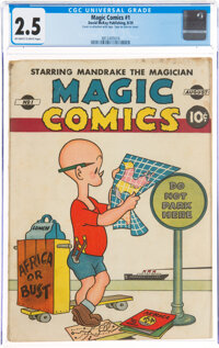 Magic Comics #1 (David McKay Publications, 1939) CGC GD+ 2.5 Off-white to white pages