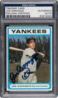 Autographs:Sports Cards, Signed 1987 Bowery Bank Joe DiMaggio PSA/DNA Authentic.