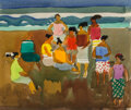 Works on Paper, Millard Sheets (American, 1907-1989). Hawaiian Beach. Watercolor on paper. 8-1/8 x 9-5/8 inches (20.6 x 24.4 cm) (sight)...