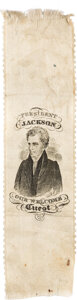 """Political:Ribbons & Badges, Andrew Jackson: The Classic """"Guest"""" Ribbon ..."""