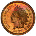 Proof Indian Cents, 1867 1C PR63 Red and Brown PCGS. PCGS Population: (35/164 and 0/2+). NGC Census: (17/108 and 0/0+). CDN: $400 Whsle. Bid fo...
