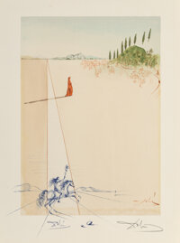 Salvador Dali (1904-1989) Canto 1, from Inferno, circa 1960-1964 Woodcut in colors on Riv