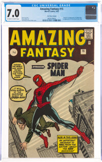 Amazing Fantasy #15 UK Edition (Marvel, 1962) CGC FN/VF 7.0 Off-white to white pages