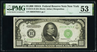 Fr. 2212-B $1,000 1934A Federal Reserve Note. PMG About Uncirculated 53