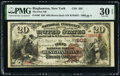 National Bank Notes:New York, Binghamton, NY - $20 1882 Brown Back Fr. 493 The First National Bank Ch. # 202 PMG Very Fine 30 EPQ.. ...