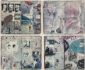 Photographs, Peter Beard (American, 1938-2020). Diary Pages, 1988. Dye coupler prints with applied ink, watercolor,...