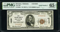 Serial Number 1 Decatur, AL - $5 1929 Ty. 1 First National Bank Ch. # 10336 PMG Gem Uncirculated 65 EPQ