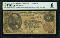 Sparta, TN - $5 1882 Brown Back Fr. 469 The First National Bank Ch. # 3614 PMG Very Good 8
