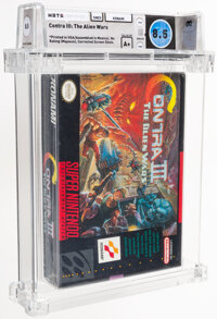 Contra III: The Alien Wars - Wata 8.5 A+ Sealed [Assembled in Mexico, Corrected Screenshots, Later Production], SNES Kon...