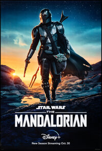 """The Mandalorian (Disney+, 2019). Rolled, Very Fine+. One Sheet (27"""" X 40"""") DS Advance. Science Fiction"""