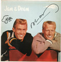 Music Memorabilia:Recordings, Jan & Dean Autographed LP (Dore 101, 1960). This copy of thehard-to-find LP doesn't have the photo that originally came wit...