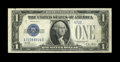Error Notes:Obstruction Errors, Fr. 1601 $1 1928A Silver Certificate. Very Fine.. An obstructioncaused the top serial number to miss having its last six ch...