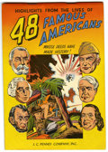 Golden Age (1938-1955):Non-Fiction, 48 Famous Americans #nn (J. C. Penney Co., 1947) Condition:FN/VF....