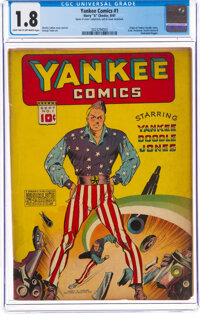 Yankee Comics #1 (Chesler, 1941) CGC GD- 1.8 Light tan to off-white pages