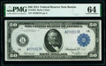 Fr. 1025 $50 1914 Federal Reserve Note PMG Choice Uncirculated 64