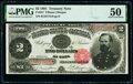 Large Size:Treasury Notes, Fr. 357 $2 1891 Treasury Note PMG About Uncirculated 50.. ...