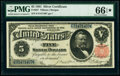Large Size:Silver Certificates, Fr. 267 $5 1891 Silver Certificate PMG Gem Uncirculated 66 EPQ★ .. ...