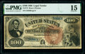Large Size:Legal Tender Notes, Fr. 173 $100 1880 Legal Tender PMG Choice Fine 15.. ...