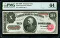 Large Size:Treasury Notes, Fr. 368 $10 1890 Treasury Note PMG Choice Uncirculated 64.. ...