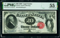 Fr. 145 $20 1880 Legal Tender PMG About Uncirculated 55