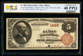 Alton, IL - $5 1882 Brown Back Fr. 469 The Alton National Bank Ch. # 1428 PCGS Banknote Extremely Fine 40 PPQ