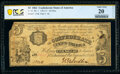 Confederate Notes:1861 Issues, T35 $5 1861 PF-1 Cr. 271 PCGS Banknote Very Fine 20 Details.. ...