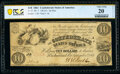 Confederate Notes:1861 Issues, T27 $10 1861 PCGS Banknote PF-1 Cr. 221 Very Fine 20 Details.. ...