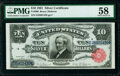 Large Size:Silver Certificates, Fr. 300 $10 1891 Silver Certificate PMG Choice About Unc 58.. ...