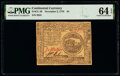 Colonial Notes:Continental Congress Issues, Continental Currency November 2, 1776 $4 PMG Choice Uncirculated 64 EPQ.. ...