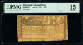 Colonial Notes:Maryland, Maryland July 26, 1775 $2/3 PMG Choice Fine 15.. ...