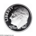 Proof Roosevelt Dimes: , 1997-S 10C Silver PR70 Deep Cameo PCGS. Fully brilliant ...