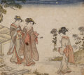 Works on Paper, Japanese School (20th Century). Nine Woodblocks. woodblock on paper. 9-3/4 x 6-1/2 inches (24.8 x 16...