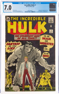 The Incredible Hulk #1 (Marvel, 1962) CGC FN/VF 7.0 Off-white to white pages