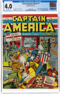 Captain America Comics #1 (Timely, 1941) CGC VG 4.0 Off-white pages