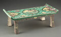 Ceramics & Porcelain, A Chinese Porcelain Sancai Side Table, Qing Dynasty, 17th-18th century. 4-1/2 x 12-3/4 x 6-3/4 inches (11.4 x 32.4 x 17.1 cm...