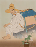 Works on Paper, Paul Jacoulet (French, 1902-1960). The Salt Merchant. Korea., 1936. Woodblock on paper. 18 x 14-1/2 inches (45.7 x 36.8 ...