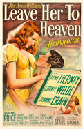 Movie Posters:Film Noir, Leave Her to Heaven (20th Century Fox, 1945). Very Fine on...