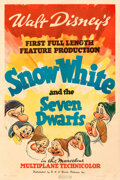 Movie Posters:Animation, Snow White and the Seven Dwarfs (RKO, 1937). Fine+ on Line...