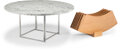 Furniture, Poul Kjaerholm (Danish, 1929-1980). PK-54A Table with extensions, circa 1963, E. Kold Christensen. Maple, steel, marble... (Total: 8 Items)