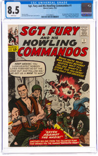 Sgt. Fury and His Howling Commandos #1 (Marvel, 1963) CGC VF+ 8.5 White pages