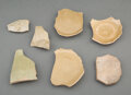 Ceramics & Porcelain, A Group of Chinese Celadon Ceramic Samples. 1 x 5-1/2 x 4-1/4 inches (2.5 x 14.0 x 10.8 cm) (largest). PROVENANCE: . C.T. ... (Total: 7 Items)