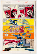 Memorabilia:Miscellaneous, Glynis Oliver (as Glynis Wein) Daredevil #172 Story Page 17 Production Color Guide (Marvel, 1981)....