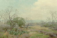 Julian Onderdonk (American, 1882-1922) In the Mesquite Brush, South West Texas, 1915 Oil on canvas laid on board 12 x