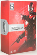 """Memorabilia:Comic-Related, Iron Man 3 """"Silver Centurion"""" Mark XXXIII Diecast 1/6th Scale Movie Masterpieces Collectible Figure (Marvel/Hot Toys, ..."""
