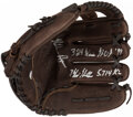 Autographs:Others, Nolan Ryan Signed Glove with 4 Inscriptions....