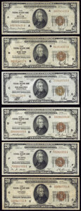 Small Size:Federal Reserve Bank Notes, Fr. 1870-A; B; C; D; F; G $20 1929 Federal Reserve Bank Notes. Fine or Better.. ... (Total: 6 notes)